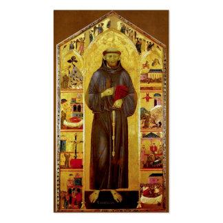 San Francisco de la iconografía medieval de Assiss Tarjetas De Visita