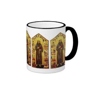 San Francisco de la iconografía medieval de Assiss Tazas De Café