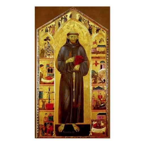 San Francisco de la iconografía medieval de Tarjetas De Visita