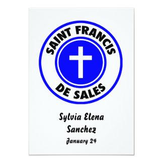 San Francisco De Sales Invitación 12,7 X 17,8 Cm