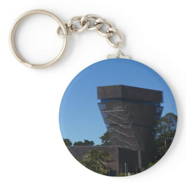 everydaylifesf San Francisco de Young Museum Button Keychain
