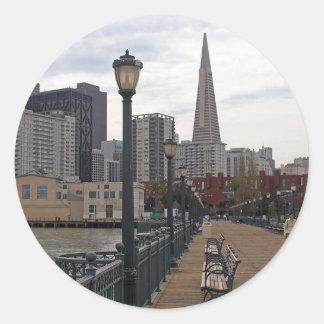 San Francisco del embarcadero 39 Pegatina Redonda