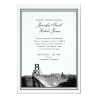 San Francisco Destination Wedding Invitation