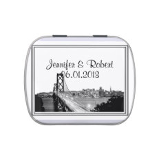 San Francisco Destination Wedding Jelly Belly Candy Tin at Zazzle