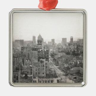 San Francisco Earth Quake Destruction 1906 Metal Ornament