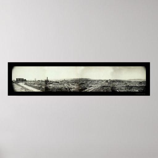 San Francisco Earthquake Ruins Photo 1906 Poster