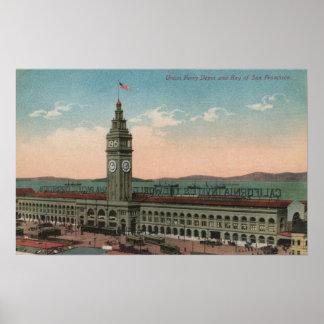 San Francisco, edificio de la terminal de transbor Impresiones