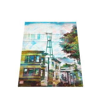 San Francisco: El World.tif del diecinueveavo Impresión En Lona