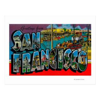 San Francisco escenas de la letra de CaliforniaLa Tarjeta Postal