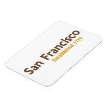 "San Francisco Established 3""x4"" Flexible Magnet"