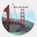 San Francisco Etiquetas Redondas