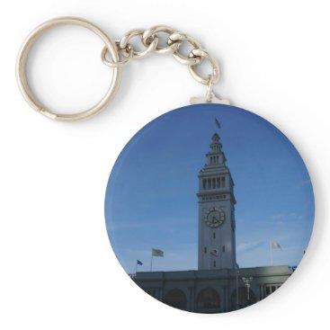 everydaylifesf San Francisco Ferry Building Button Keychain