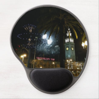 San Francisco Ferry Building Firework Gel Mousepad