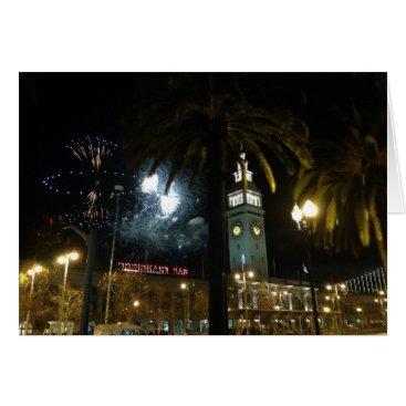 everydaylifesf San Francisco Ferry Building Fireworks Card