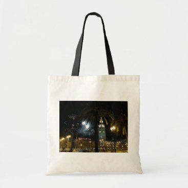 everydaylifesf San Francisco Ferry Building Fireworks Tote Bag