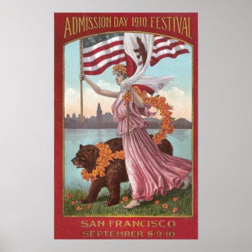 San Francisco Festival of 1910 Poster