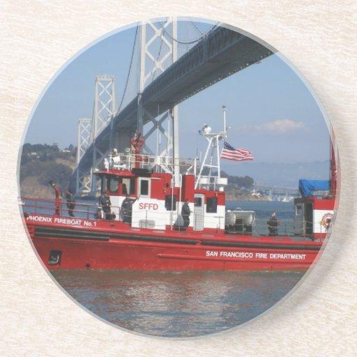 San Francisco Fire Boat Drink Coasters