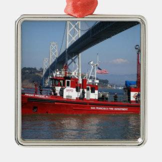 San Francisco Fire Boat Metal Ornament