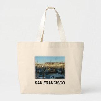 San Francisco Fisherman's wharf Jumbo Tote Bag
