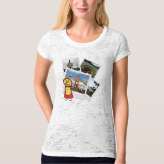 San Francisco Fitted Ladies Burnout T-Shirt