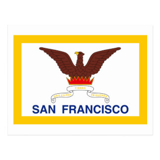 San Francisco Flag Postcard