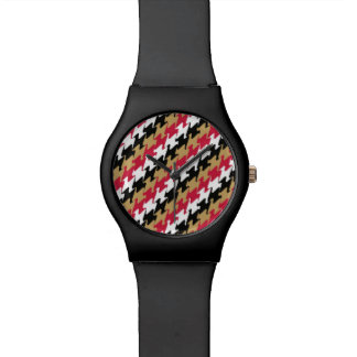 San Francisco Football Red & Gold Pattern Color Watches