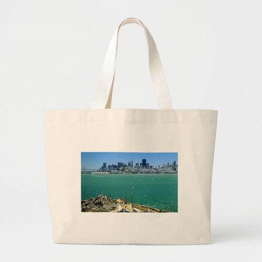 San Francisco from Alcatraz Large Tote Bag