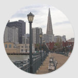 San Francisco from Pier 39 Round Stickers