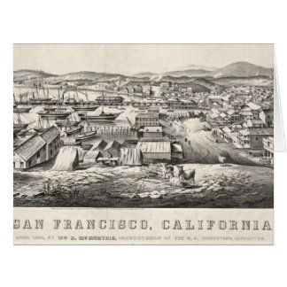San Francisco from Telegraph Hill 1850 Card