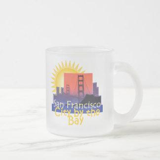 SAN FRANCISCO FROSTED GLASS COFFEE MUG