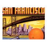 san francisco fruit postcard