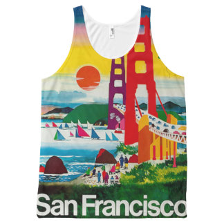 San Francisco gate and river All-Over Print Tank Top