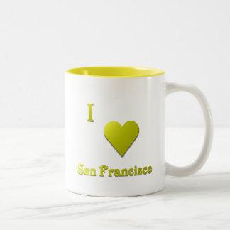 San Francisco -- Gold Two-Tone Coffee Mug