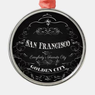 San Francisco, Golden City-Everybody's Favorite Metal Ornament