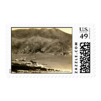 San Francisco, Golden Gate Bridge, 1930s Vintage Postage