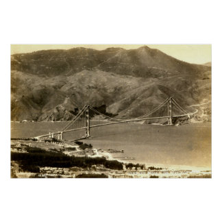 San Francisco, Golden Gate Bridge, 1930s Vintage Poster
