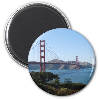 San Francisco Golden Gate Bridge 2 Inch Round Magnet