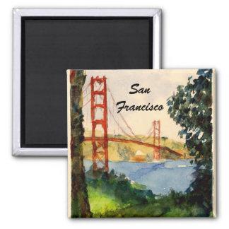 San Francisco Golden Gate Bridge 2 Inch Square Magnet