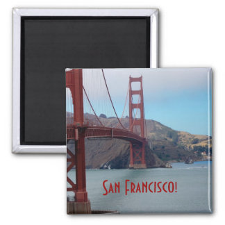 San Francisco, golden gate bridge 2 Inch Square Magnet