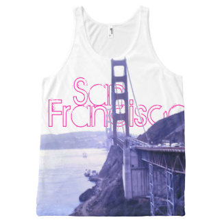 San Francisco Golden Gate Bridge All-Over-Print Tank Top