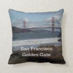 San Francisco Golden Gate Bridge American MoJo Pil Throw Pillow