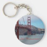 San Francisco, golden gate bridge Basic Round Button Keychain