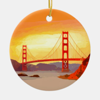 San Francisco Golden Gate Bridge Ceramic Ornament