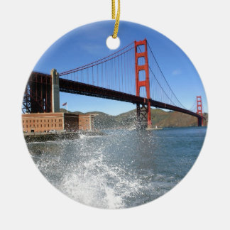 San Francisco Golden Gate Bridge Ceramic Ornament