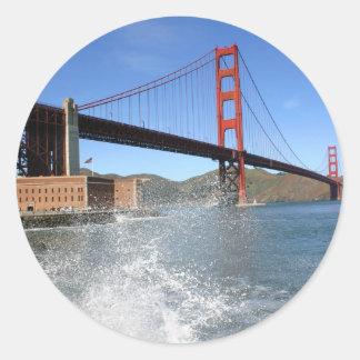 San Francisco Golden Gate Bridge Classic Round Sticker