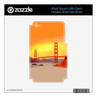 San Francisco Golden Gate Bridge Decals For iPod Touch 4G
