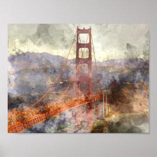 San Francisco Golden Gate Bridge in California Poster