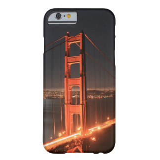 San Francisco Golden Gate Bridge Lit Up At Night Barely There iPhone 6 Case