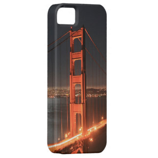 San Francisco Golden Gate Bridge Lit Up At Night iPhone SE/5/5s Case