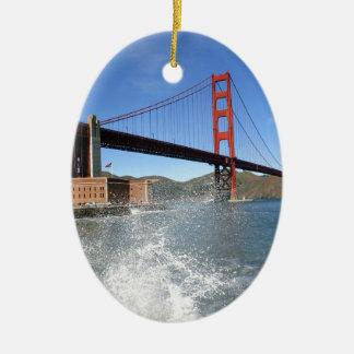 San Francisco Golden Gate Bridge Christmas Tree Ornaments